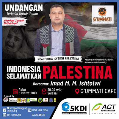 G'ummati Cafe Bandar Lampung Akan Disinggahi Syech Asal Palestina