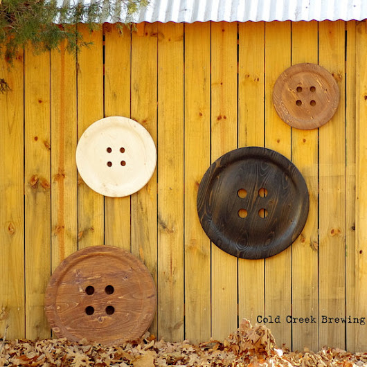 Wood button wall decor