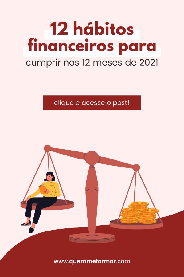 Imagem de Divulgação para Pinterest 12 Tarefas Financeiras 12 Meses [2021]