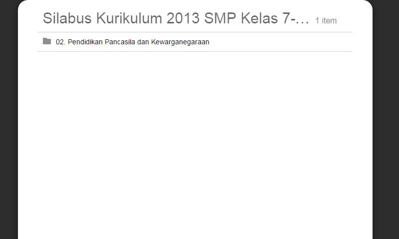 Silabus Kurikulum 2013 SMP Kelas 7-8-9 (PKn) Pendidikan Pancasila danKewarganegaraan Lengkap Revisi Terbaru