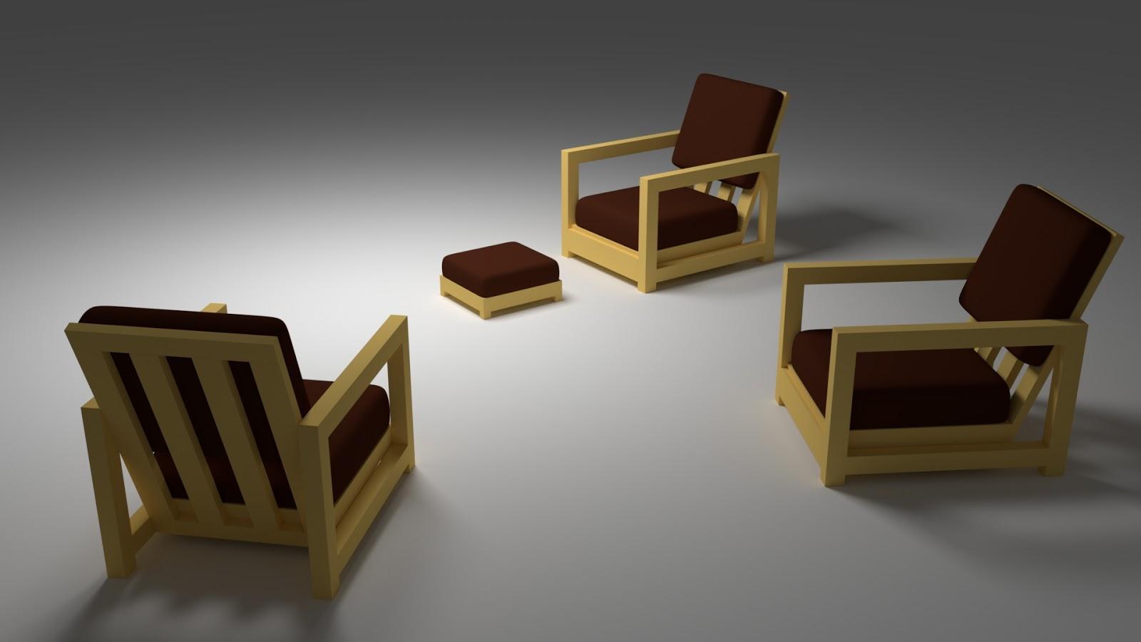 Free 3D Balcon Chair .blend file