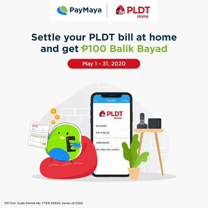 Pay your bills and get BalikBayad with PayMaya!