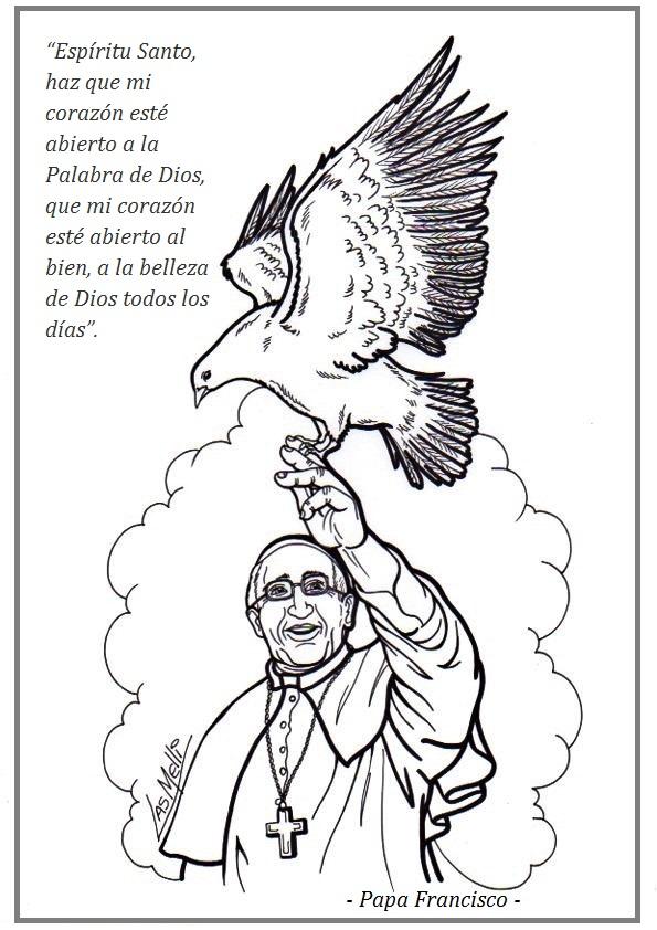 PARA COLOREAR: Dibujos del Espíritu Santo