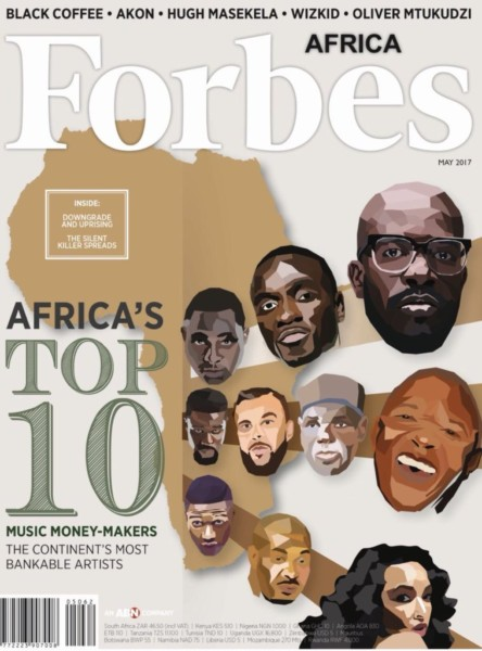 Forbes Africa Top 10 Bankable African Musicians