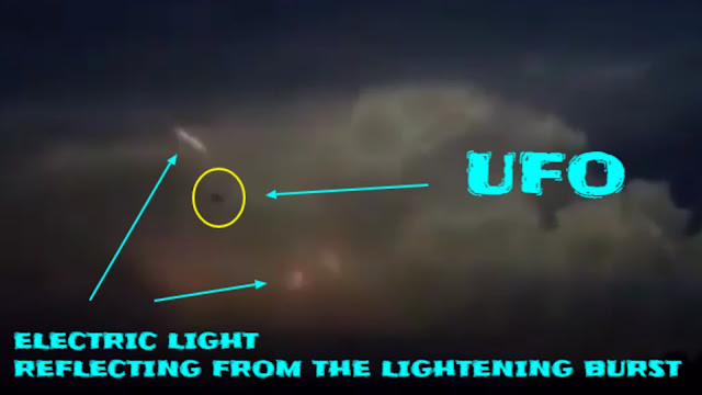 Pointing out the differences between light reflections and the UFO are different.