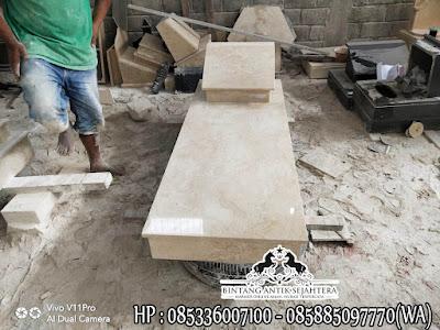 Model Makam Trap 1 Marmer, Kijing Makam Sederhana, Model Makam Muslim Terbaru