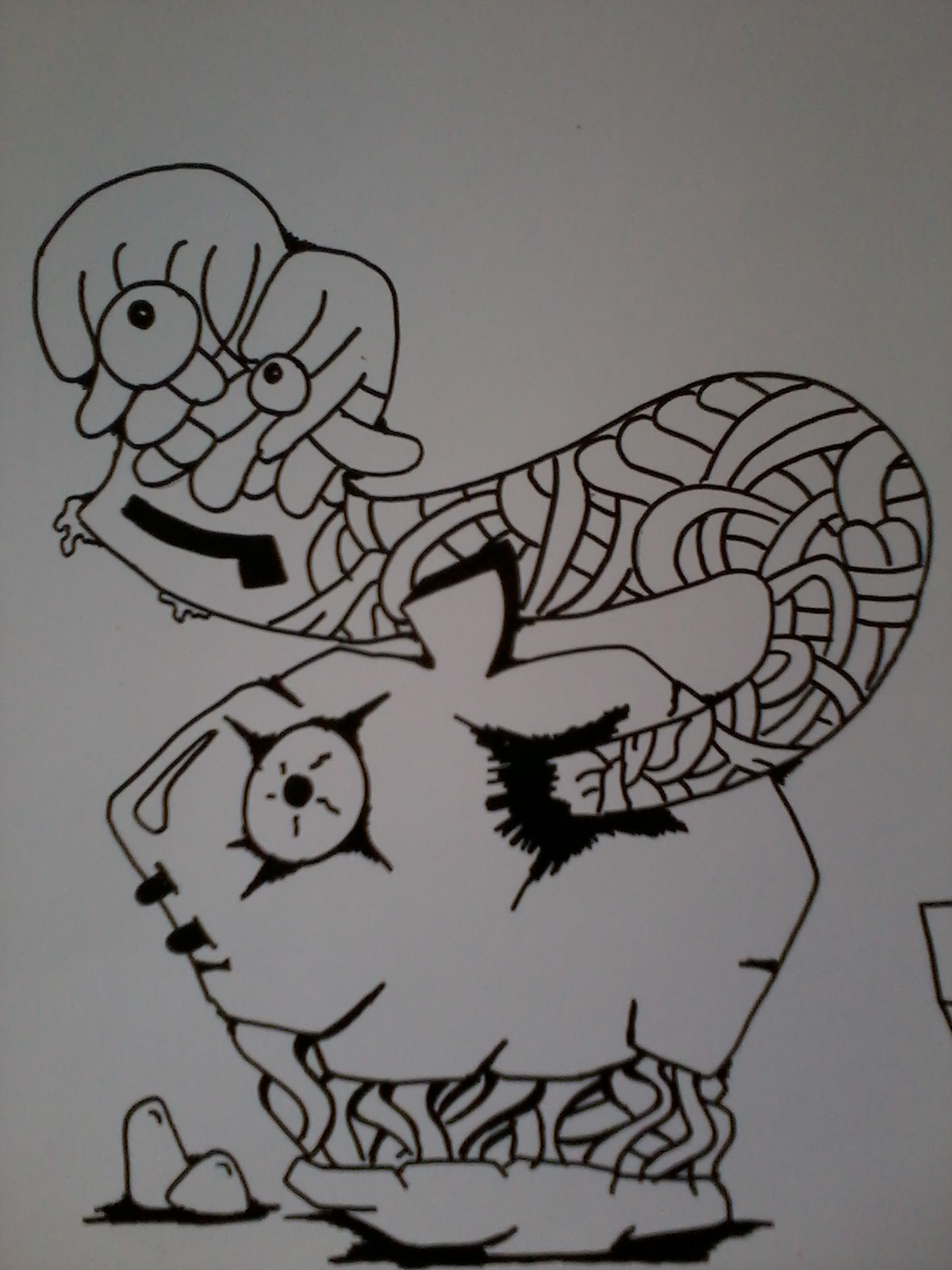 Kumpulan Sketsa Gambar Monster