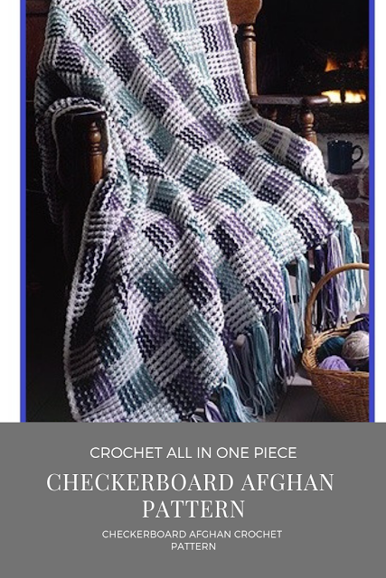 Checkerboard Afghan Crochet Pattern Download