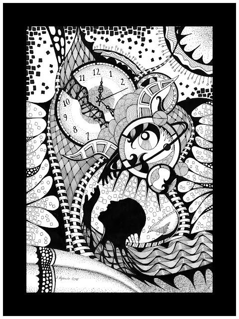 """""""Martwe morze"""" ilustracja inspirowana muzyką"""