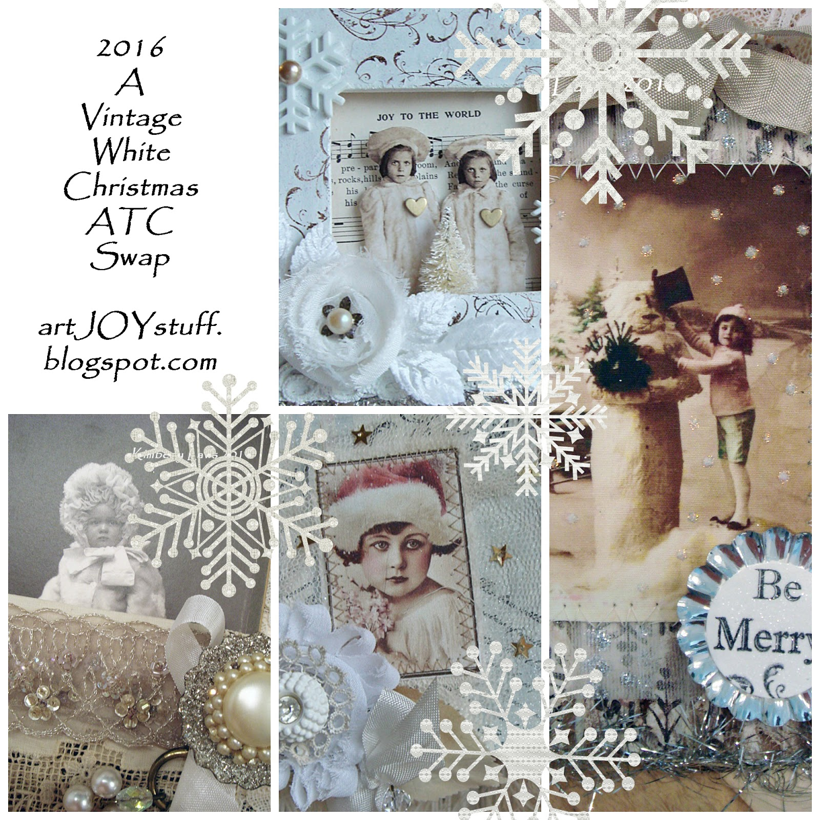 White Christmas ATC Swap 2016