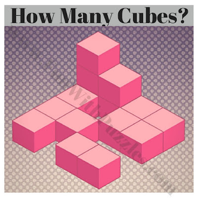 Picture puzzle to count cubes in given figure