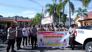 Polres Tana Toraja Salurkan Bantuan Sosial 10 Ton Beras Polri, Sentuh Warga Terdampak Pandemi Covid