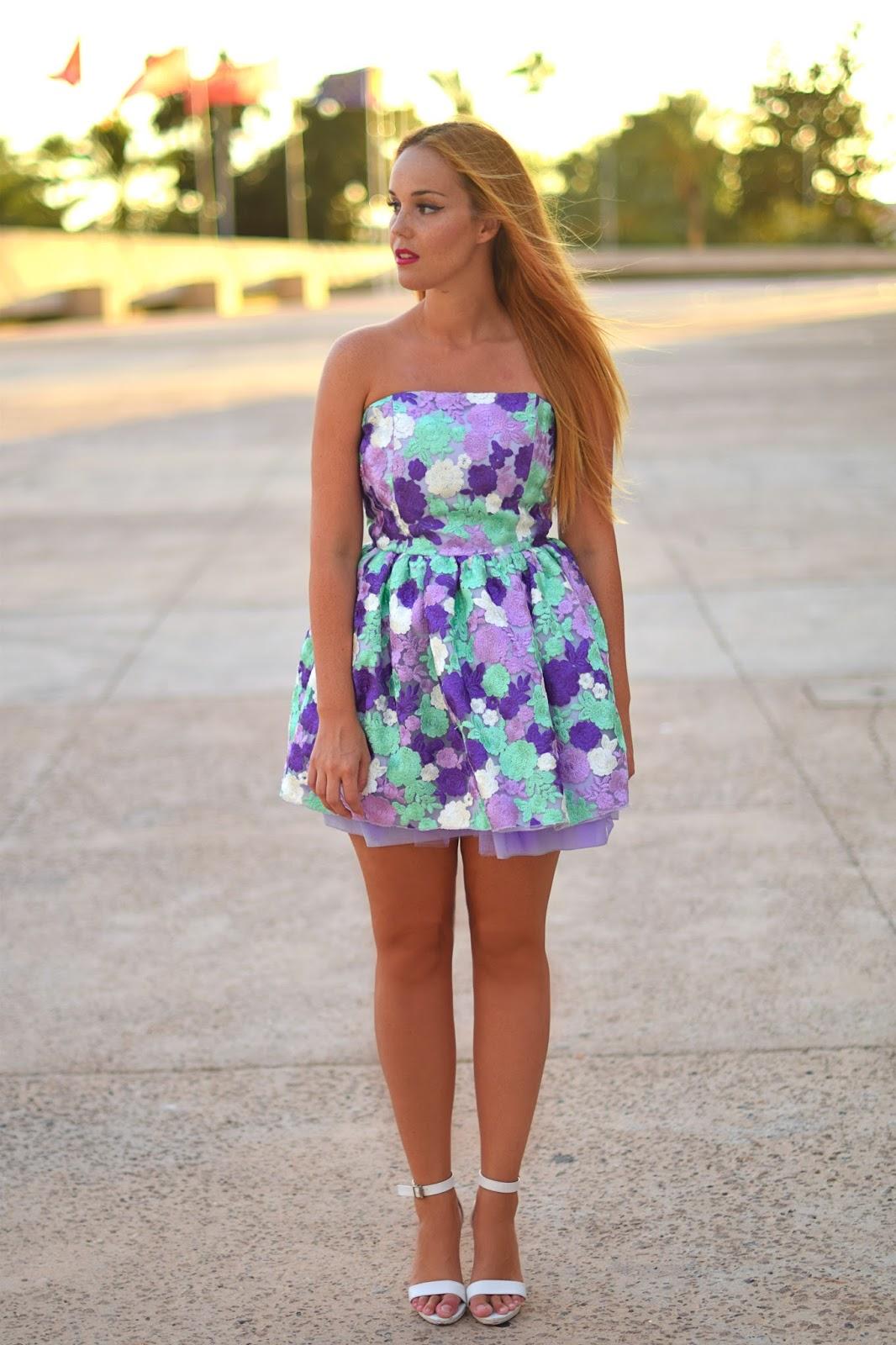 nery hdez, jones and jones, party dress, floral print