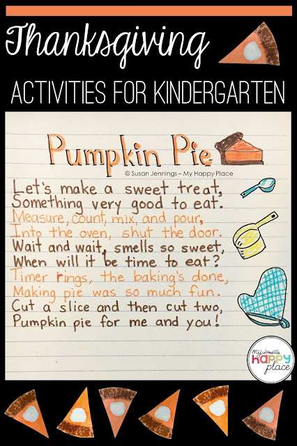 Pumpkin Pie Poem for shared reading in kindergarten