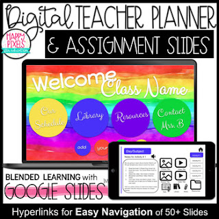 Digital Teacher Planner and Assignment Slides for Google Classroom
