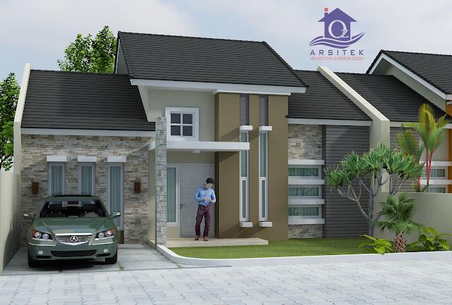 Desain Eksterior Rumah Bapak Kristi di Riau