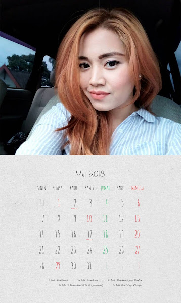 Desain Kalender Indonesia 2018 - Mei