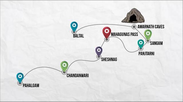 अमरनाथ यात्रा करने के लिए दोनों रस्ते पहलगाम और बालटाल