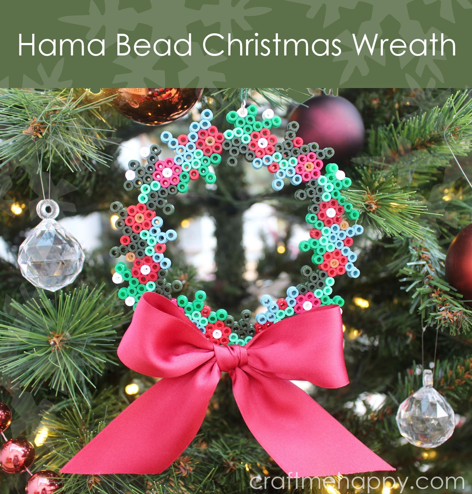 Christmas Hama Beads.Craft Me Happy Hama Bead Christmas Wreath