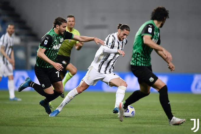 Serie A, la Juventus vince a Sassuolo e spera ancora