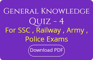 Genaral Knowledge Quiz - 4