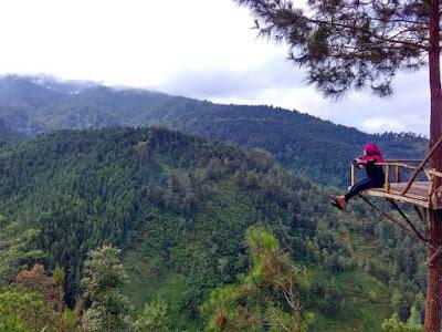 objek wisata alam rumah pohon banyu anyep karanganyar jawa tengah
