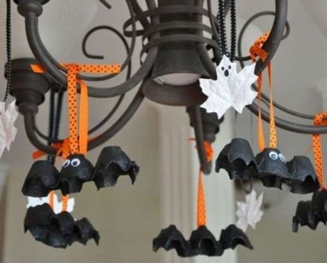 Decorate Your Hanging Lamp With The Halloween Theme Decorate Your Hanging Lamp With The Halloween Theme