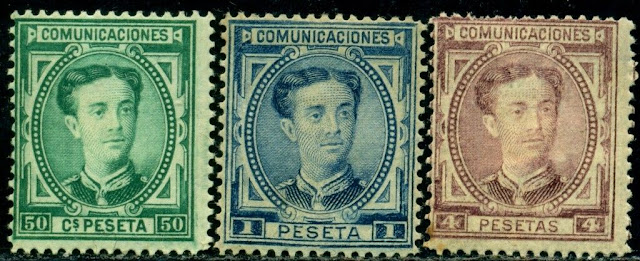 Spain 1876 King Alfonso XII
