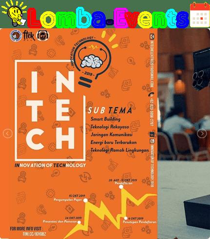Lomba Karya Inovasi Tepat Guna INTECH 2019 SMA Sederajat Se-Jawa Tengah