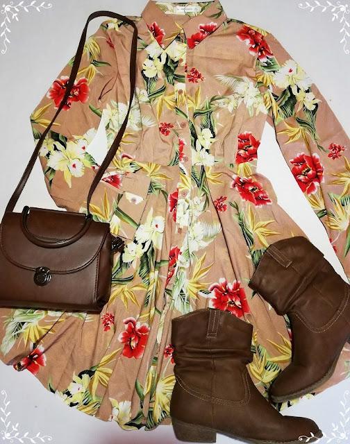 floral dress, cvjetna haljina, cute, ootd, dnevni outfit, kombinacija,