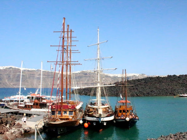 Santorini: Nea Kameni and Palea Kameni