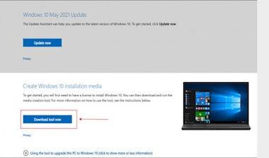 Cara Download File ISO Windows 10 21H1 Resmi Dari Microsoft