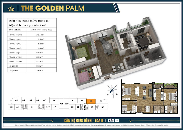 Căn B5 - 100m - The Golden Palm