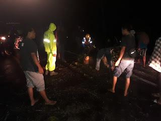 Pohon Tumbang Lumpuhkan Akses Jalan, Ini yang Dilakukan Personil Polsek Anggeraja