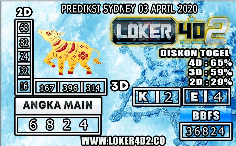 PREDIKSI TOGEL SYDNEY LOKER4D2 03 APRIL 2020
