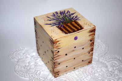 Drewniane szkatułki decoupage.
