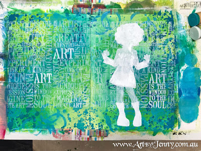 painting in featured areas for Mixed Media artwork by Jenny James featuring the theme Bucket List