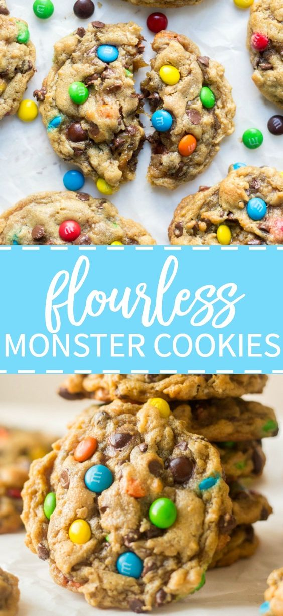 Flourless Monster Cookies