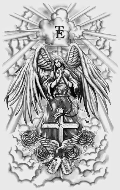 tatuajes de angeles de la guarda para chicas