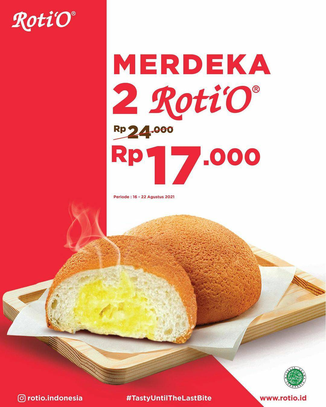 Promo Roti O Merdeka - Beli 2 Rotio harga hanya Rp. 17.000