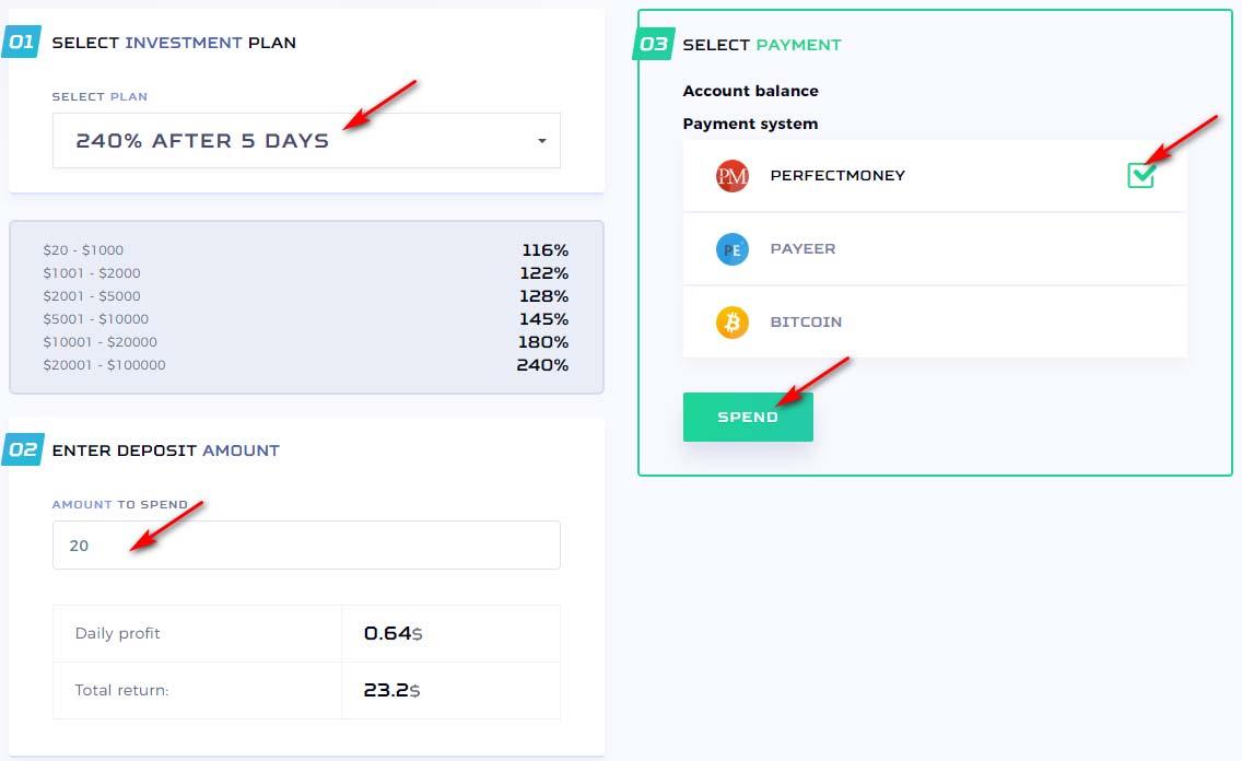 Создание депозита в Crypto Trader 2
