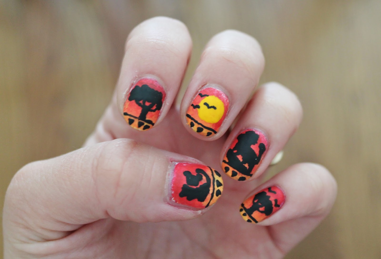 The Lion King Nail Art - Jersey Girl, Texan Heart