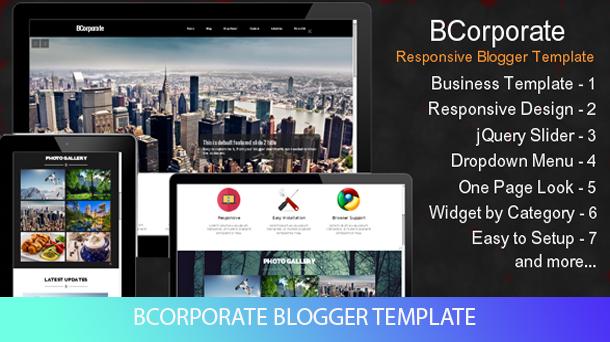 BCorporate Template Blogger Premium Responsive - Responsive Blogger Template