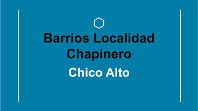 barrios de chapinero