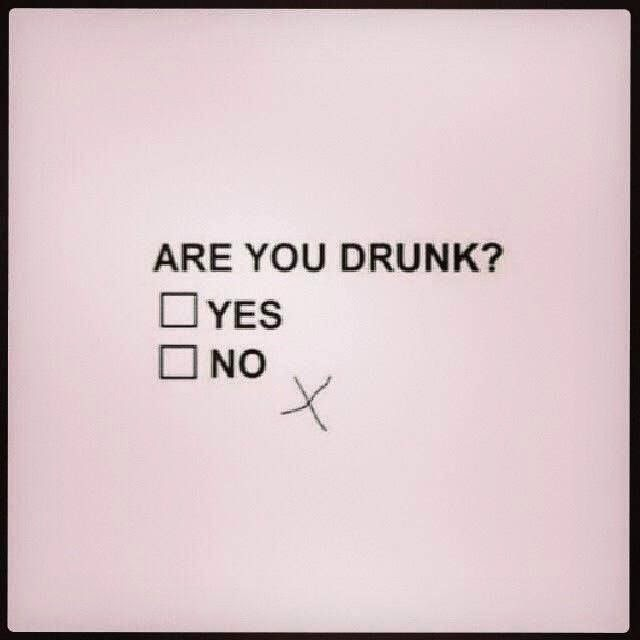 Funny Drunk Multiple Choice Questionnaire Joke Picture
