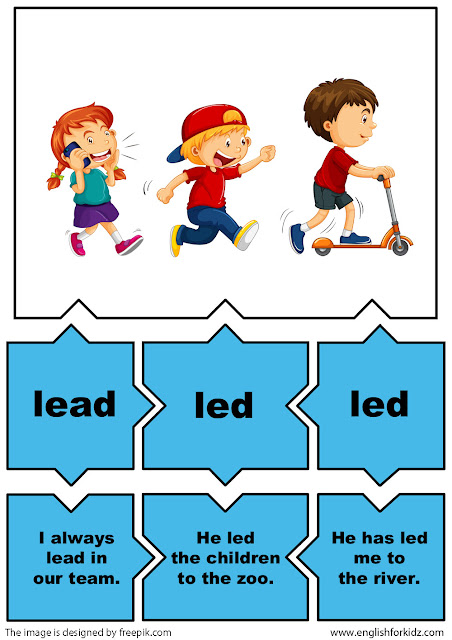 irregular verbs activity verb lead