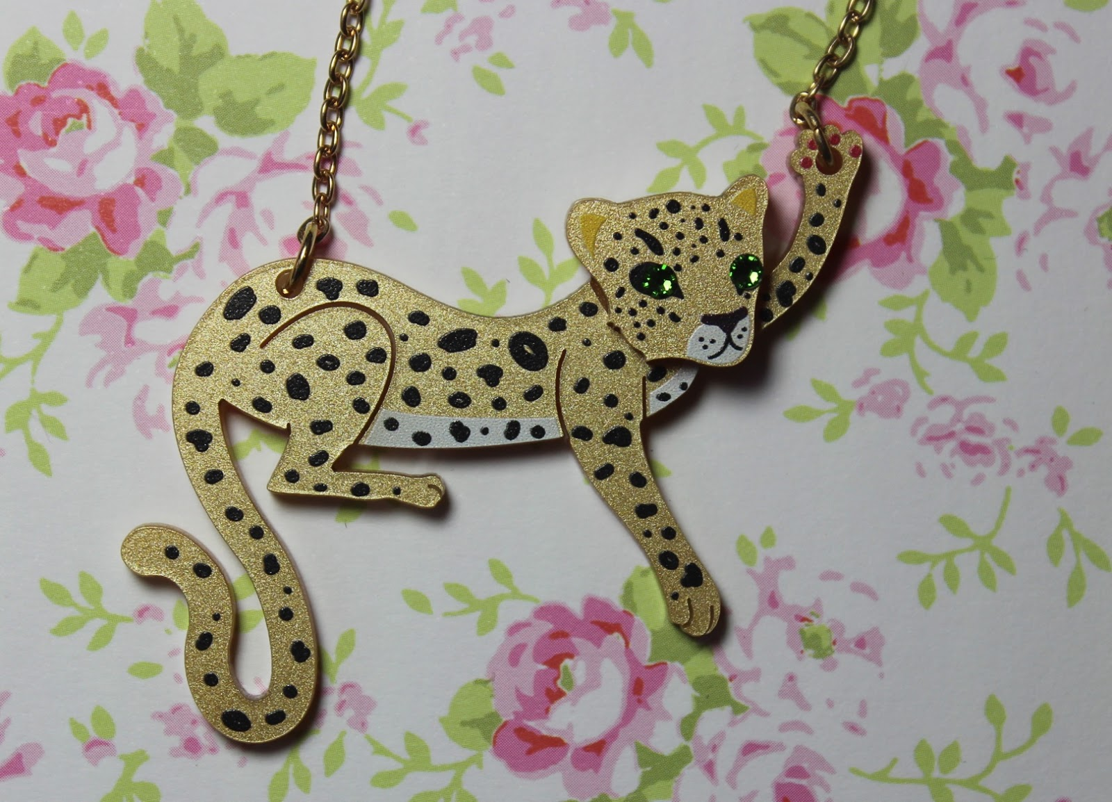 little moose leopard pendant