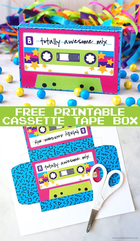 Free Printable Cassette Tape Box