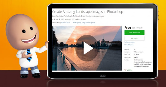 [100% Off] Create Amazing Landscape Images in Photoshop| Worth 20$