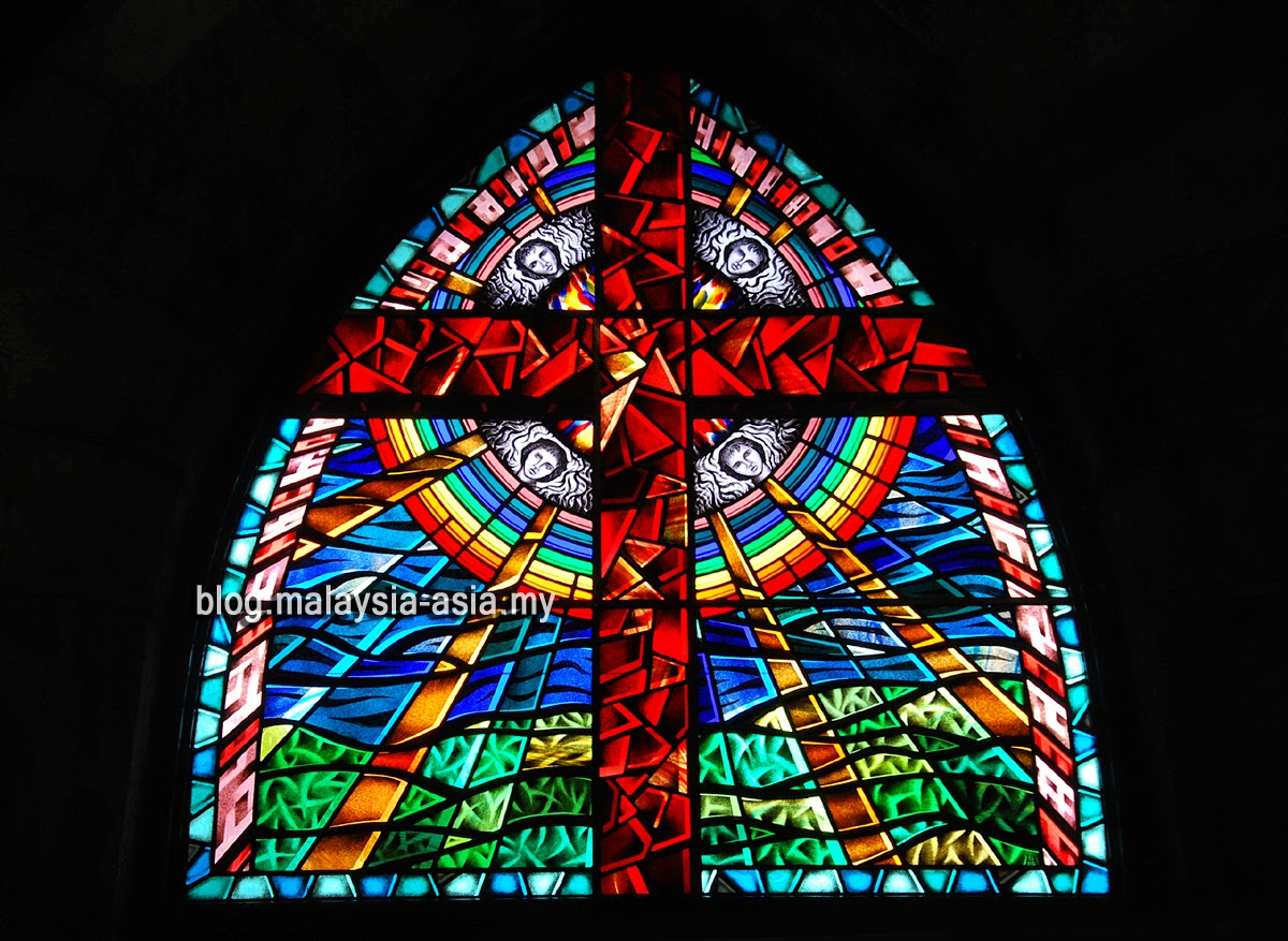 Stained glass at the St. Michael's Church in Sandakan